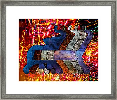 Song Of The Elephants Framed Print by Kyle Willis
