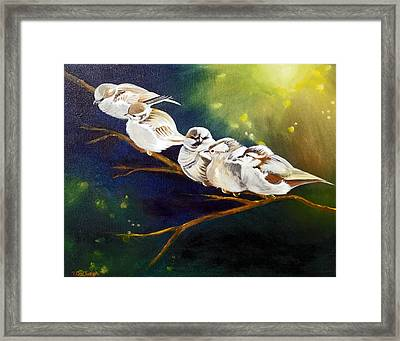 Song Of The Sparrows Framed Print by Terry Cox Joseph