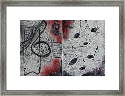 Framed Print featuring the painting Song by Sladjana Lazarevic