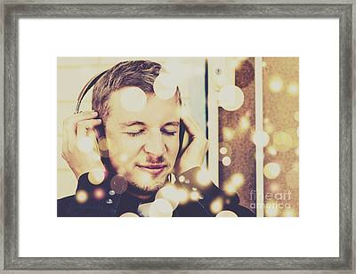 Songs In Frequency Framed Print
