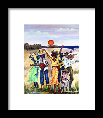 African American Woman Framed Prints