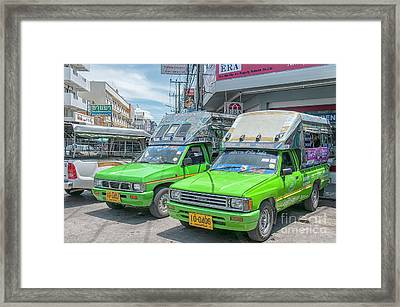 Framed Print featuring the photograph Songthaew Taxi by Antony McAulay