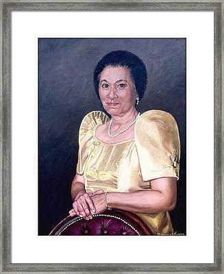 Framed Print featuring the painting Sonia by Rosencruz  Sumera