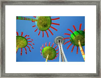 Framed Print featuring the photograph Sonic Bloom In Seattle Center by Adam Romanowicz