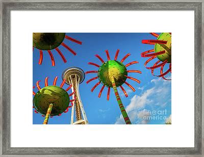 Sonic Bloom Framed Print by Inge Johnsson