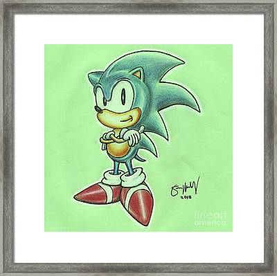 Sonic Drawing Framed Print