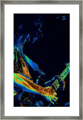 Sonic Guitar Explosions Art 1 Framed Print by Ben Upham