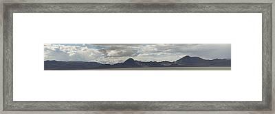 Framed Print featuring the photograph Sonneville Salt Flat2 by Daniel Hebard