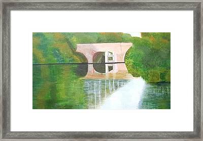 Sonning Bridge In Autumn Framed Print