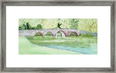 Sonning Bridge Framed Print