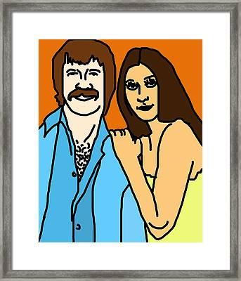 Sonny And Cher Framed Print by Jera Sky