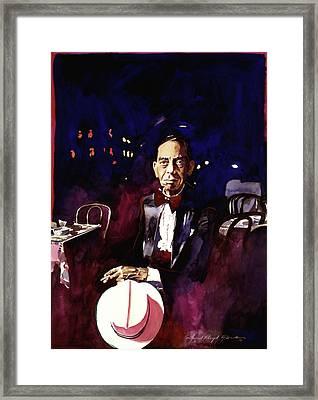 Sonny Greer Jazz Drummer Framed Print by David Lloyd Glover