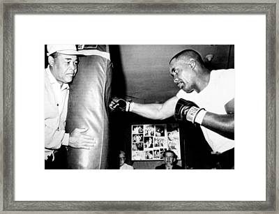 Sonny Liston Working Out On The Heavy Framed Print by Everett