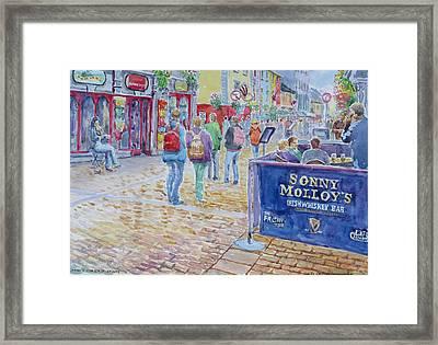 Sonnys High Street Galway Framed Print by Tomas OMaoldomhnaigh