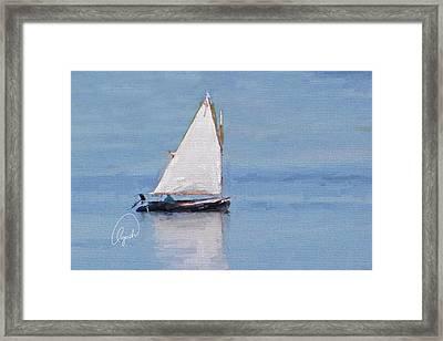 Sonny's Sailboat Signed Framed Print