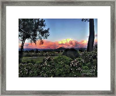 Sonoma County Sunsets Framed Print