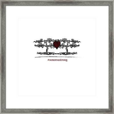 Sonoma Strong Framed Print