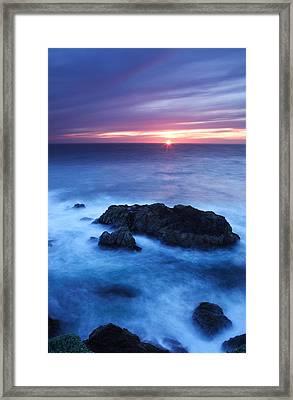 Sonoma Sunset Framed Print by Eric Foltz