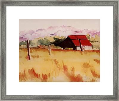 Sonoma Wheatfield Framed Print by Patricia Halstead