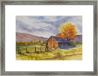 Framed Print featuring the painting Sonora Barn by Pat Crowther