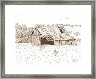 Sonora Barn Framed Print by Pat Price