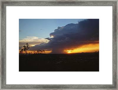 Sonoran Desert Thunderstorm Framed Print