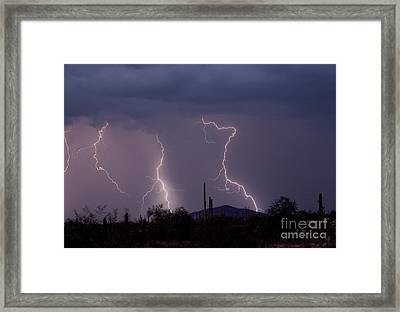 Sonoran Storm Framed Print by James BO  Insogna