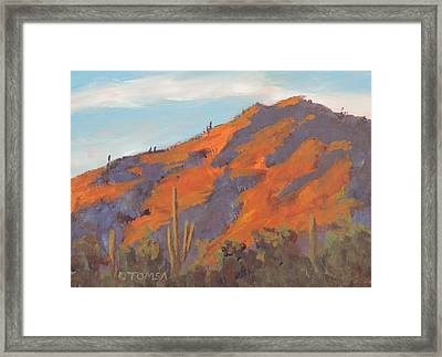 Sonoran Sunset - Art By Bill Tomsa Framed Print