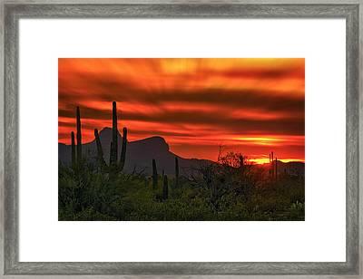 Sonoran Sunset H38 Framed Print