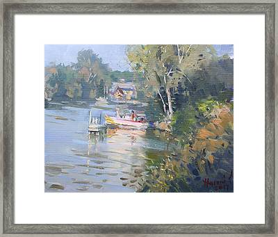 Sunset On Tonawanda Canal Framed Print