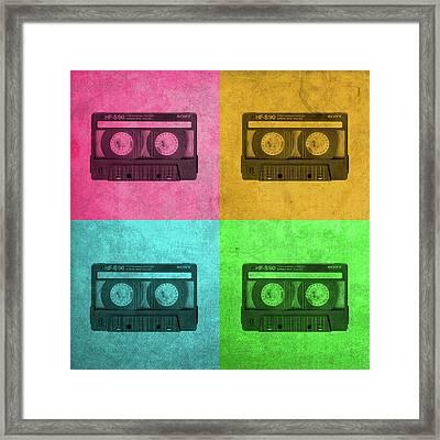 Sony Cassette Tape Walkman Vintage Pop Art Framed Print by Design Turnpike