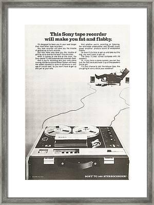 Sony Vintage Advert Framed Print by Georgia Fowler