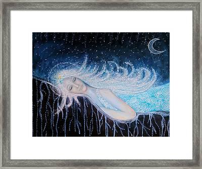 Soon You Will Awake And Shine Like 1000 Stars Again Framed Print by Lila Violet