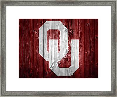 Sooners Barn Door Framed Print