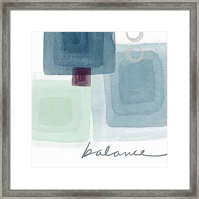 Soothing Balance- Art By Linda Woods Framed Print