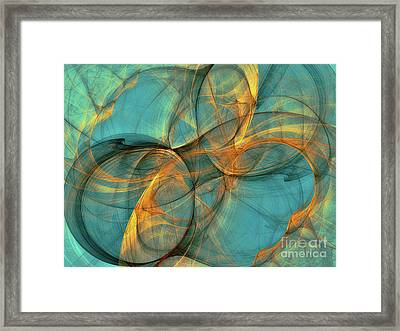 Framed Print featuring the digital art Soothing Blue by Deborah Benoit
