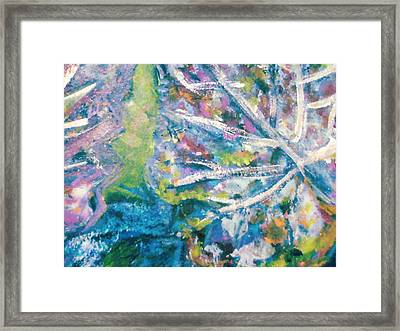 Soothing Blues And Greens Framed Print by Anne-Elizabeth Whiteway