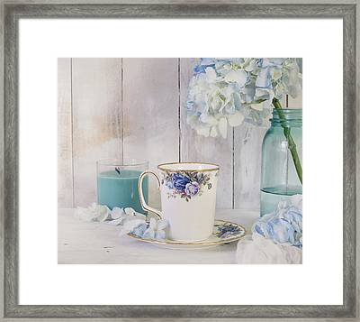 Soothing Blues Framed Print