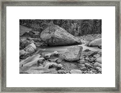 Soothing Colorado Monochrome Wilderness Framed Print by James BO Insogna