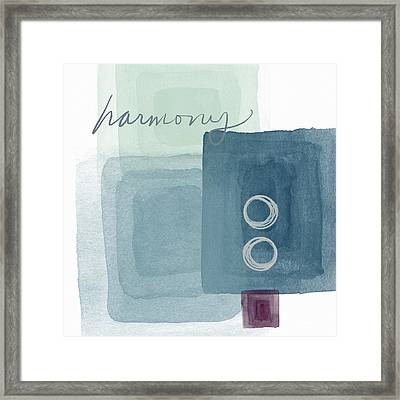 Soothing Harmony- Art By Linda Woods Framed Print