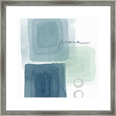 Soothing Peace- Art By Linda Woods Framed Print