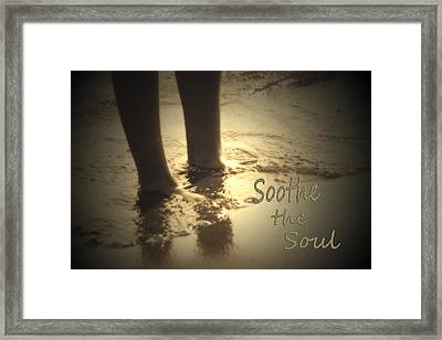 Soothing Sand  Soothe The Soul  Framed Print by Cathy  Beharriell