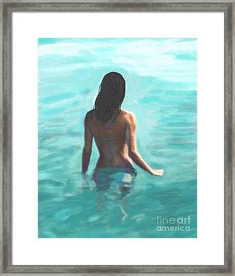 Soothing Swim Framed Print