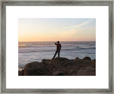 Soothing Water Framed Print by Kavita Sarawgi