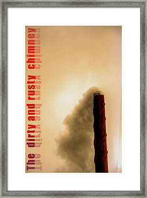 Sooty Rusted And Dirty Chimney Framed Print by Tommytechno Sweden