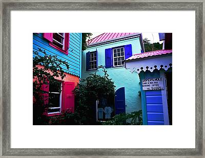 Soper's Hole. British Virgin Islands Framed Print
