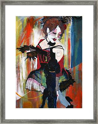 Sopheia And Lu Lu Stage 3 Framed Print by Joanne Claxton