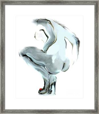 Sophi Squats Framed Print
