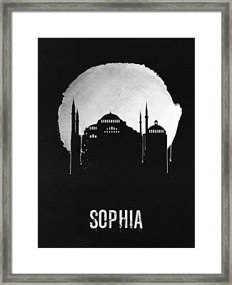 Sophia Landmark Black Framed Print by Naxart Studio