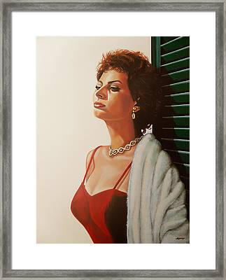 Sophia Loren  Framed Print by Paul Meijering